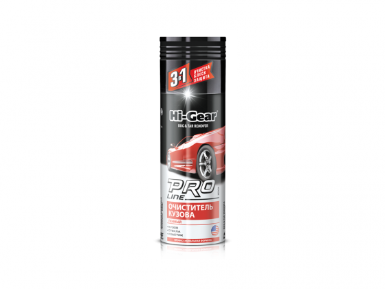 Очиститель PRO Line от комаров кузов/стекло (пенный) Hi Gear HG 5626 полироль для панели hi gear hg 5615 очиститель интерьера hg 5619