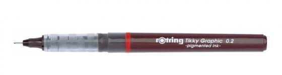 Набор капиллярных ручек Rotring Tikky Graphic толщина 0.2/0.4/0.8мм чернила черные корпус красный S0814880