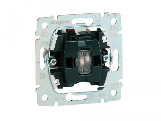 Выключатель с подсветкой Legrand Galea Life 10АХ/250В с зеленой лампой 0,5мA 775600 удлинитель с заземлением 4х15 м makel 159