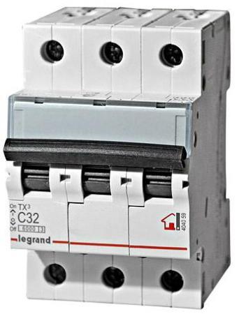 Автоматический выключатель Legrand TX 6000 6кА тип C 3П 400В 50А 404061 автоматический выключатель tdm ва47 63 2р 50а sq0218 0015