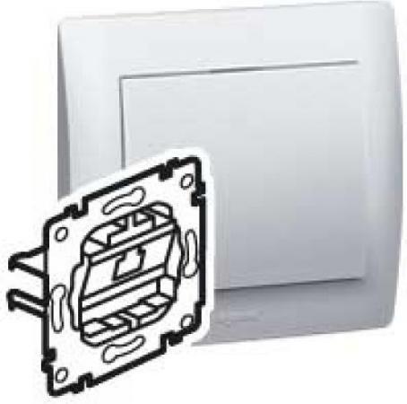 Розетка информационная Legrand Galea Life RJ45 5e UTP 1 коннектор монтаж на захватах 775765