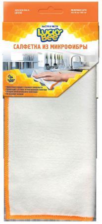 Салфетки из микрофибры Белая жел.кант 40х40 Lucky Bee LB 7205 весы 10 40 x 10 g lb oz 01