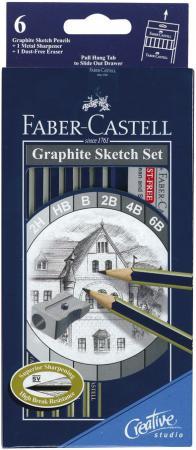 Карандаши графитовые Faber-Castell Goldfaber 1221 2ННВВ2В4В6В 6 шт 114000 faber pareo