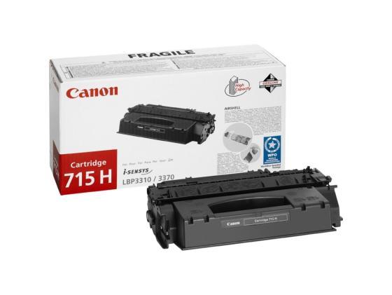 Картридж Canon 715H для i-SENSYS LBP-3310/3370 чёрный 7000стр картридж canon ep 22 для laser shot lbp 1120 800 810 чёрный 2500 страниц