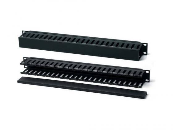 Кабельный организатор Hyperline CM-1U-PL-COV с пластиковыми кольцами и крышкой 19 1U плинт соединительный hyperline на 10 пар маркировка 1 0 kr pl 10 con 1