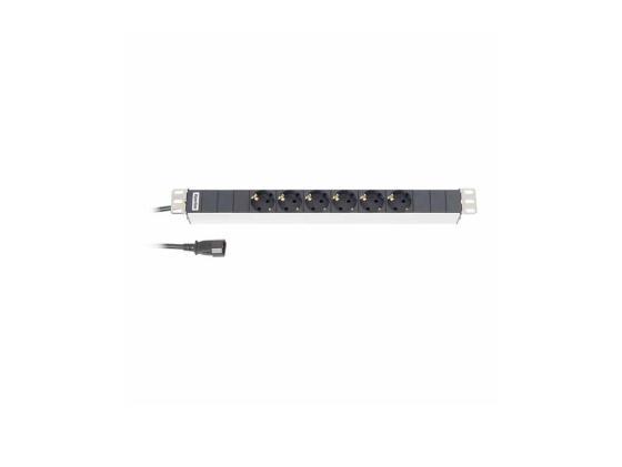 Блок розеток Hyperline SHT19-6SH-2.5IEC 6 розеток 2.5 черный блок розеток hyperline sht19 6sh s 2 5eu черный 6 розеток 2 5