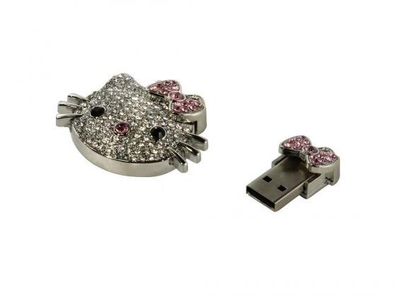 Флешка USB 16Gb ICONIK HELLO KITTY MTFC-HKF-16GB серебристый цена и фото