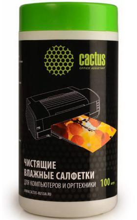 Влажные салфетки Cactus CS-T1002 100 шт чистящие салфетки cactus cs t1003 20 шт