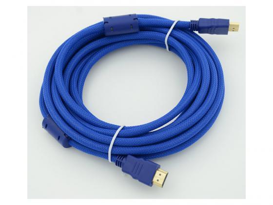 Кабель HDMI 5.0м Gembird Ver.1.4 Blue jack ферритовые кольца позолоченные контакты кабель hdmi 3 0м gembird ver 1 4 blue jack ферритовые кольца позолоченные контакты