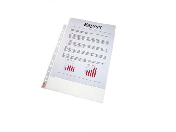 Папка-вкладыш Esselte с перфорацией A4 55мкр прозрачный глянцевый 100шт 56066 папка вкладыш esselte 56171