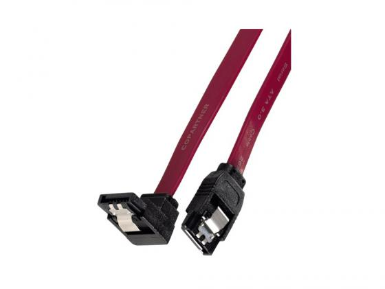 Кабель Hama H-54576 SATA III внешний 6Гбит/с угловые штекеры 0.6м красный