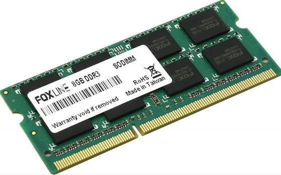 Оперативная память для ноутбуков SO-DDR3 8Gb PC12800 1600MHz Foxline FL1600D3S11L-8G CL11 корпус miditower atx 450w usb black fl 922 fz450r foxline