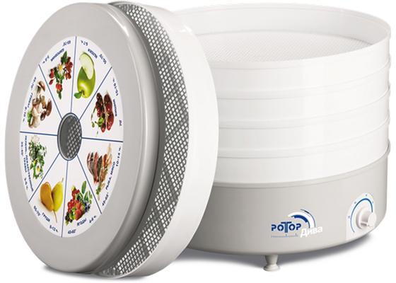 Сушилка для овощей и фруктов Ротор Дива СШ 007-10 белый 5 поддонов цена и фото
