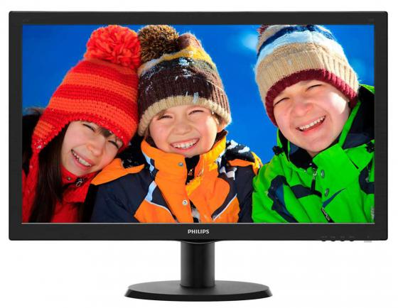 Монитор 23.6 Philips 243V5LHSB 00/01 черный TFT-TN 1920x1080 250 cd/m^2 5 ms DVI VGA HDMI монитор 21 5 asus ve228tlb черный tft tn 1920x1080 250 cd m^2 5 ms dvi vga аудио usb