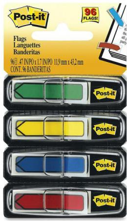 цены Набор стикеров с липким слоем 3M 24 листа 12х43 мм зеленый желтый синий красный