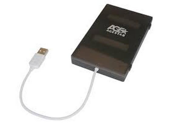 Внешний контейнер для HDD 2.5 SATA AgeStar SUBCP1 USB2.0 черный внешний контейнер для hdd 2 5 sata agestar subcp1 usb2 0 белый