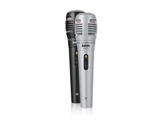 Микрофон BBK CM215 черно-серебристый 2шт микрофон bbk cm215 blue pink