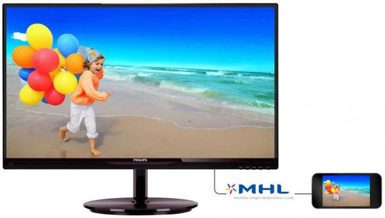 Монитор 22 Philips 224E5QHSB черный AH-IPS 1920x1080 250 cd/m^2 5 ms VGA HDMI Аудио
