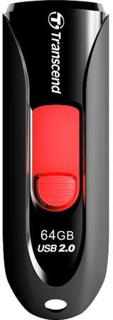 Флешка USB 64Gb Transcend Jetflash 590 TS64GJF590K черный флешка transcend jetflash v85 16gb