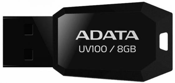 Флешка USB 8Gb A-Data UV100 AUV100-8G-RBK черный disney микки usb флешка 8g