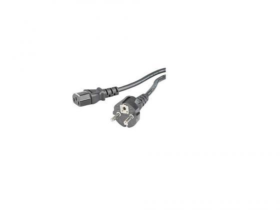 Кабель питания для бытовой электроники 1.5м Hama H-29934 с заземлением черный кабель питания для бытовой электроники 1 5м hama h 44225 черный