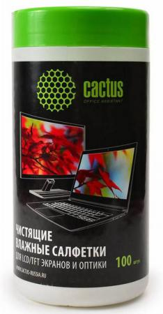 Влажные салфетки Cactus CS-T1001 100 шт чистящие салфетки cactus cs t1003 20 шт