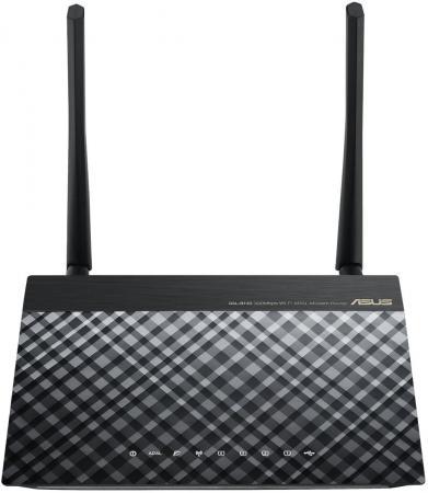 Беспроводной маршрутизатор ADSL ASUS DSL-N14U 802.11n 300Mbps 4xLAN модем xdsl asus dsl n14u rj 11 adsl2