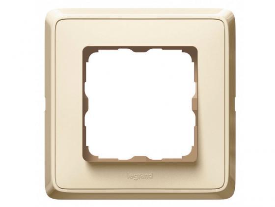Рамка Legrand Cariva 1 пост слоновая кость 773760 розетка электрическая legrand cariva 2к 16а 250в слоновая кость 773716