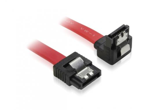 Кабель Greenconnect SATAIII - SATAIII до 6Gbps 0.5м угловой GC-ST1041-0.5m