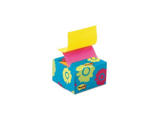Блок для записи 3M Post-it R330-BD Z Цветы 76x76мм 200 листов 7000029871 блок самоклеящийся бумажный 3m post it optima зима 654 ops 7100041129 76x76мм 100лист пастель сереб