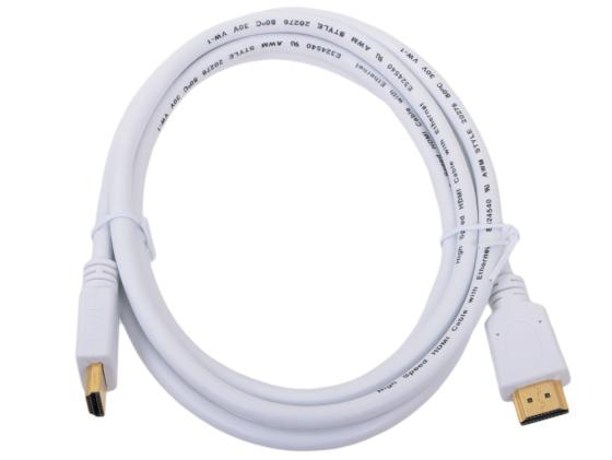 Кабель HDMI 1.8м Gembird v1.4 позол.разъем экран белый CC-HDMI4-W-6 cтяжка пластиковая gembird nytfr 150x3 6 150мм черный 100шт