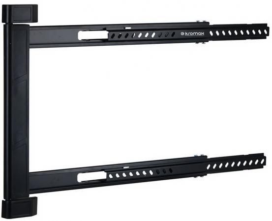 """Кронштейн Kromax LEDAS-90 черный до 32""""-65"""" настенный от стены 28мм поворот 180° VESA 600х400мм до 45кг стоимость"""