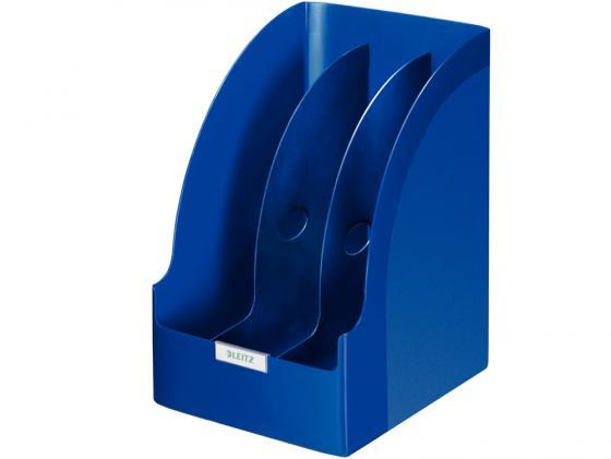 Лоток вертикальный Leitz Plus Jumbo с разделителями синий 52390035 лоток вертикальный leitz plus черный 24760095