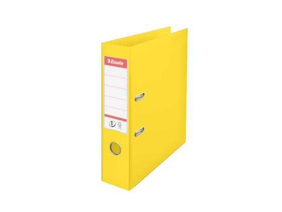 Папка-регистратор Esselte Power А4 75мм пластик желтый 811310 папка esselte на 4х кольцах