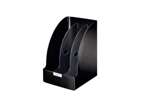 Лоток вертикальный Leitz Plus Jumbo с разделителями черный 52390095 leitz 52810095