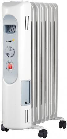 Масляный радиатор Unit UOR-721 1500 Вт белый масляный обогреватель unit uor 723