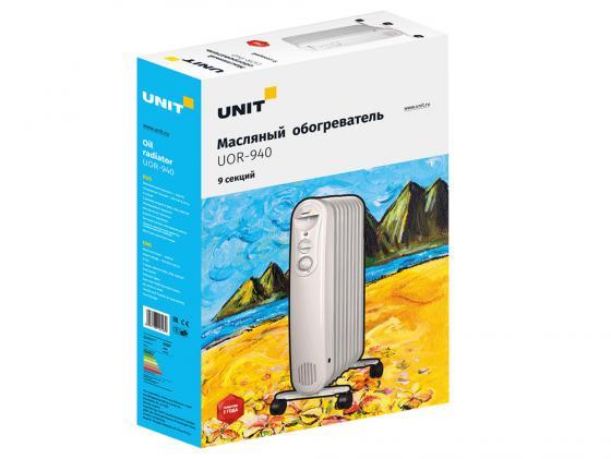Масляный радиатор Unit UOR-940 2000 Вт белый масляный радиатор unit uor 940 2000 вт белый