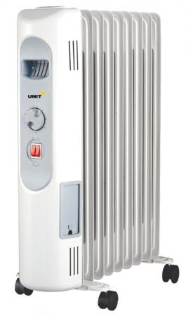 Масляный радиатор Unit UOR-997 2000 Вт белый масляный обогреватель unit uor 723