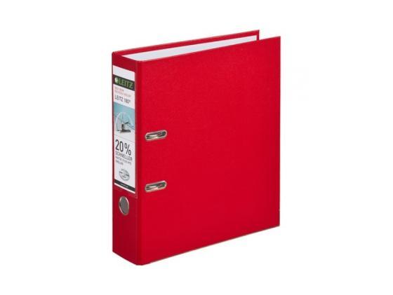 Папка-регистратор Leitz А4 80мм пластик красный 10101225P leitz complete 62570001