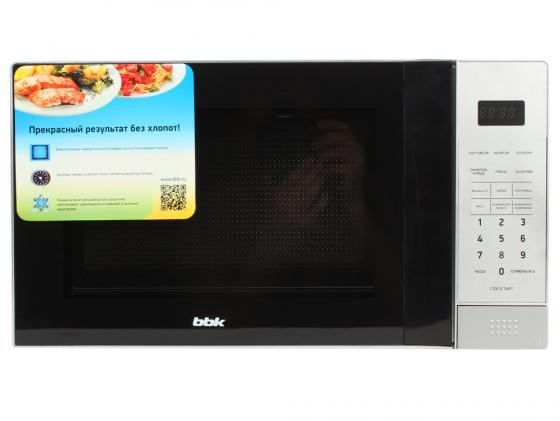 Микроволновая печь BBK 20MWS-729S/BS 20л 700Вт черно-серебристый
