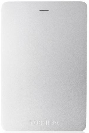 Внешний жесткий диск 2.5 USB3.0 1Tb Toshiba Canvio Alu HDTH310ES3AA серебристый