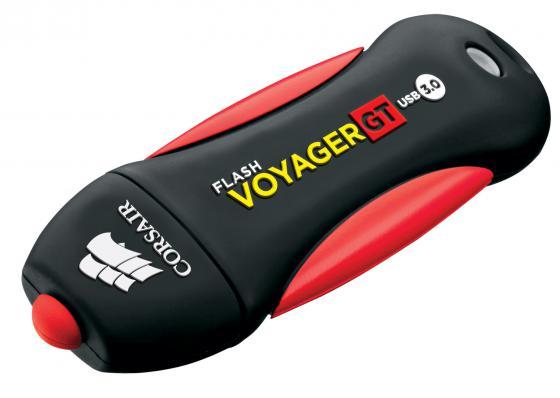 Флешка USB 256Gb Corsair Voyager GT CMFVYGT3B-256GB черно-красный флешка usb 256gb corsair voyager gs cmfvygs3b 256gb серый