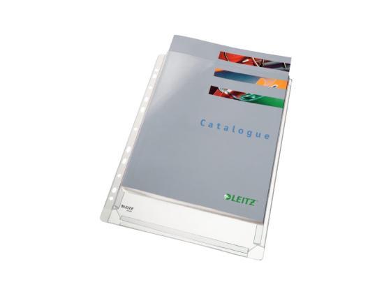 Папка-карман Leitz с расширением А4 170мкр с перфорацией прозрачный 10шт 47561003 вкладыш уголок с перфорацией leitz combifile ф а4 5 шт 200 мкм синий 47260035