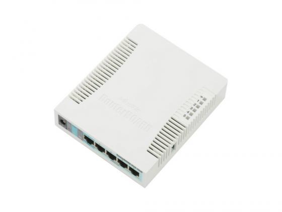 Беспроводной маршрутизатор MikroTik RB951G-2HnD 802.11bgn 300Mbps 2.4 ГГц 5xLAN USB белый цены