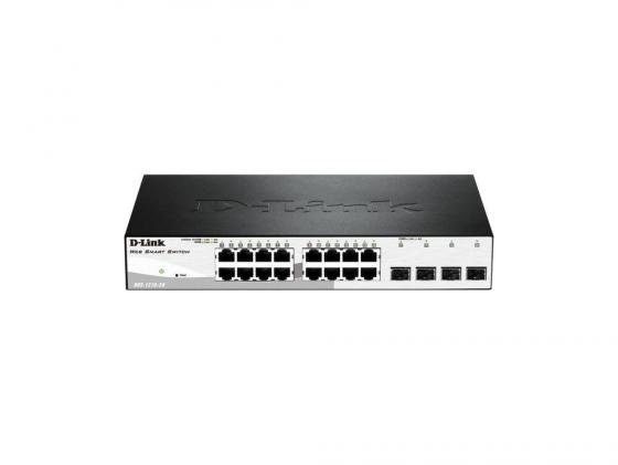 Коммутатор D-LINK DGS-1210-20/C1A управляемый 16 портов 10/100/1000Mbps коммутатор d link dgs 3120 24pc управляемый 2 уровня 20 портов 10 100 1000mbps 4xcombo sfp 2x10ge cx4