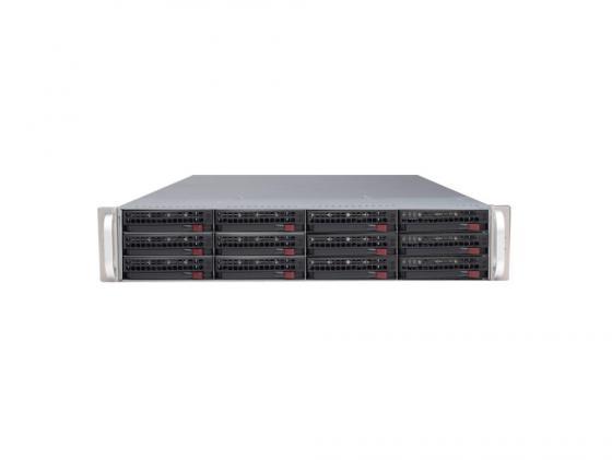 Серверный корпус 2U Supermicro CSE-826E16-R500LPB 500 Вт чёрный серверный корпус 2u supermicro cse 216be16 r920lpb 920 вт чёрный
