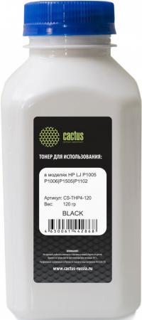 Тонер Cactus CS-THP4-120 для HP LaserJet P1005 P1006 P1100 P1102 черный 120гр тонер cactus cs mpt7 80 черный флакон для принтера hp lj p1005 p1006 p1100 p1102 80гр
