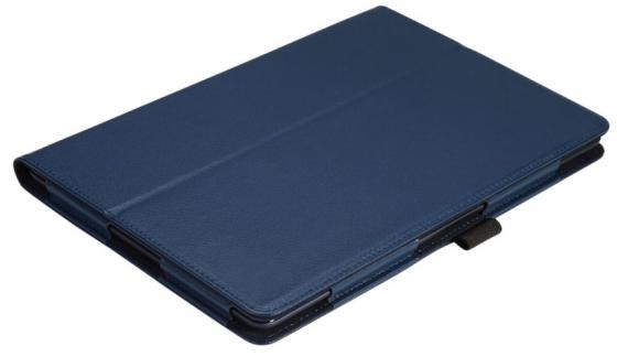 Чехол IT BAGGAGE для планшета Lenovo Idea Tab A10-70 A7600 10 искуственная кожа синий ITLNA7602-4 ultra slim 4 folder bussiness stand pu leather cover case for lenovo ideatab a7600 a7600 f a7600 h a10 70 a10 80 a10 80hc tablet