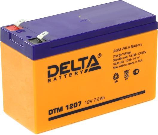 Батарея Delta DTM 1207 7.2A/hs 12W батарея delta dtm 1209 12v 8 5ah