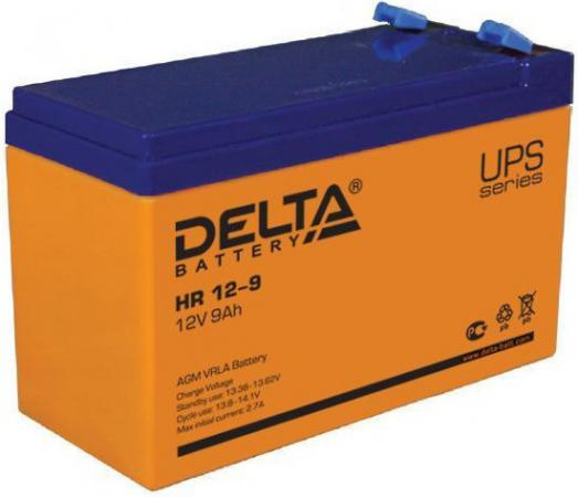 Батарея Delta HR 12-9 12В / 9Ач 12B батарея для ибп bb hr 9 6 6в 9ач